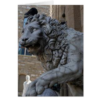 Loggia Dei Lanziのライオン カード