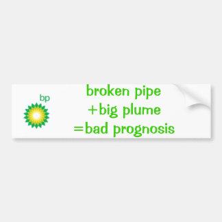 logo_bp、壊れた管+大きいplume=badの予想 バンパーステッカー