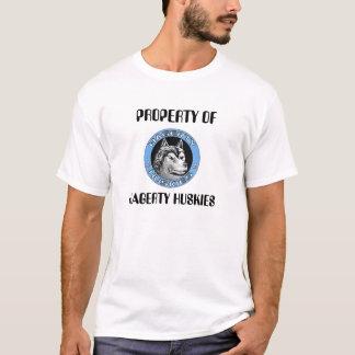 logo_huskies2の特性の、HAGERTYのハスキー Tシャツ