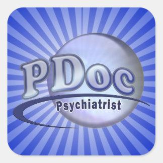 LOGO OF PSYCHIATRY PSYCHIATRIST PDocの博士 スクエアシール