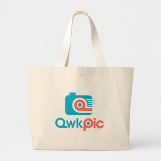 logo_QwkPic ラージトートバッグ