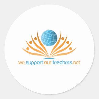 Logo--WeSupportOurTeachers.net ラウンドシール