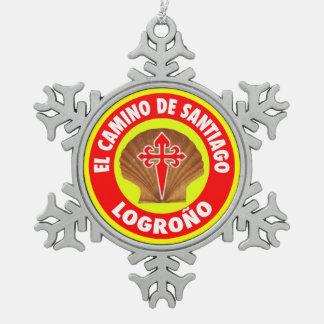 Logroño スノーフレークピューターオーナメント