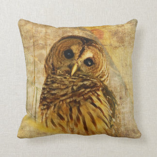 Lois Bryan著アメリカフクロウの枕 クッション