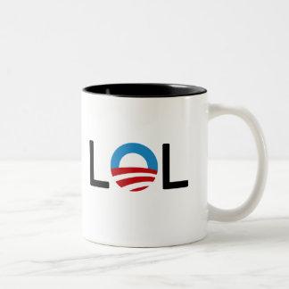 LOLオバマのマグ ツートーンマグカップ