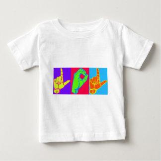 LOL ASLの手話のデザイン ベビーTシャツ