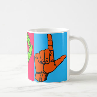 LOL ASLの手話のデザイン#2 コーヒーマグカップ