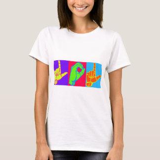 LOL ASLの手話のデザイン Tシャツ