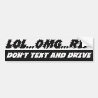 LOL… OMGの…裂け目は文字およびドライブ バンパーステッカー