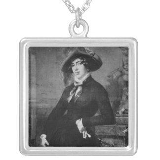 Lola Montez 1844年のポートレート シルバープレートネックレス