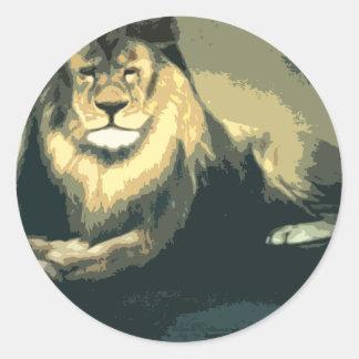 loloのライオンの商品 ラウンドシール