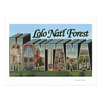 Loloの国有林、モンタナ ポストカード