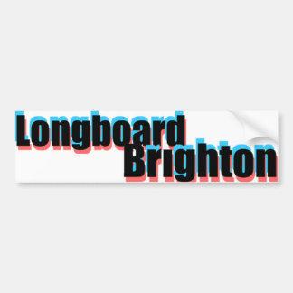 Longboardブライトン3Dのステッカー バンパーステッカー