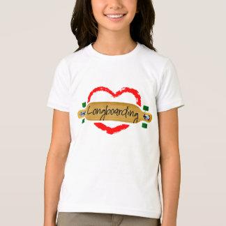 longboarding愛 tシャツ
