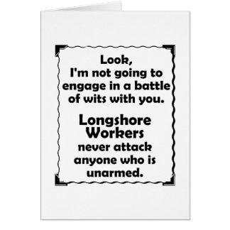 Longshoreの労働者機知比べ カード