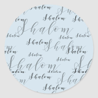 Loopy Elegant Shalom Text ラウンドシール