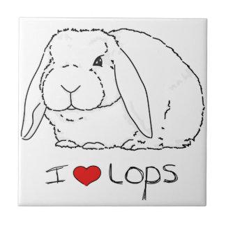 LOPのウサギ タイル