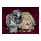 LOPの耳付つきのウサギの組 カード