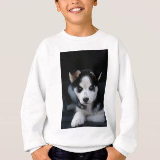 LOPの耳付つきのシベリアンハスキーのそり犬の子犬 スウェットシャツ