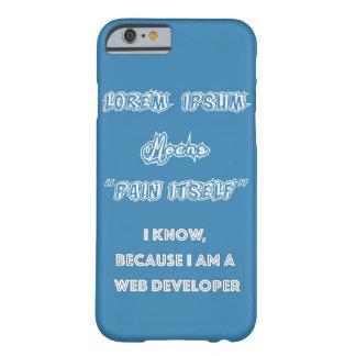 loremのIpsumのくもの巣デザイナー Barely There iPhone 6 ケース