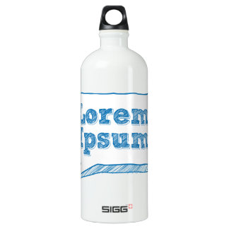 loremのipsum、走り書きフレームの手書きの文字 ウォーターボトル