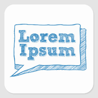 loremのipsum、走り書きフレームの手書きの文字 スクエアシール