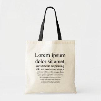 Lorem Ipsumのトートバック トートバッグ