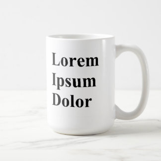 Lorem Ipsumの嘆きのマグ コーヒーマグカップ