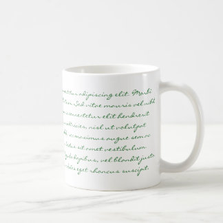 Lorem Ipsumの執筆-緑の文字 コーヒーマグカップ