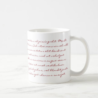 Lorem Ipsumの執筆-赤い文字 コーヒーマグカップ