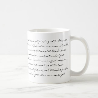 Lorem Ipsumの執筆-黒い文字 コーヒーマグカップ