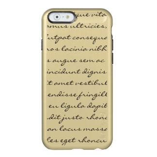 Lorem Ipsumの執筆-黒い文字 Incipio Feather Shine iPhone 6ケース