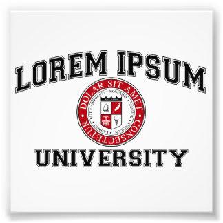 Lorem Ipsumの大学付属の卒業生の模造のラテン フォトプリント