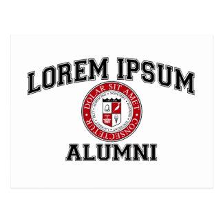 Lorem Ipsumの大学付属の卒業生の模造のラテン ポストカード
