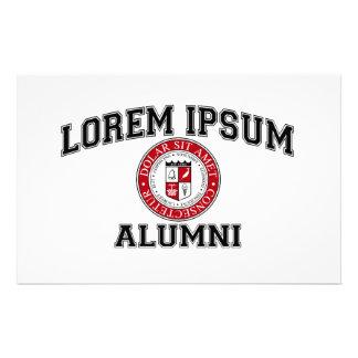 Lorem Ipsumの大学付属の卒業生の模造のラテン 便箋