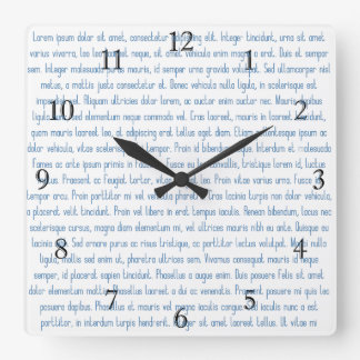 Lorem Ipsumの時計 スクエア壁時計