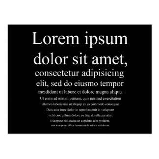 Lorem Ipsum ポストカード
