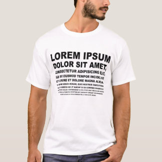 Lorem Ipsum Tシャツ
