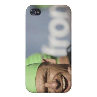 Losのスタートラインで身に着けている水泳帽に人を配置して下さい iPhone 4/4S Case