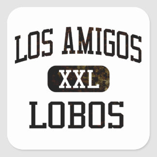 Losの友達のロボスの運動競技 スクエアシール
