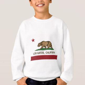 Losのgatosカリフォルニア旗 スウェットシャツ