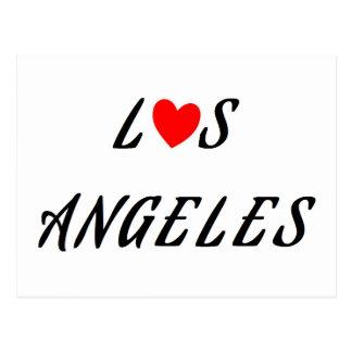 Los Angeles coeur rouge ポストカード