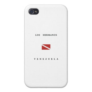 Los Hermanosベネズエラのスキューバ飛び込みの旗 iPhone 4 Case