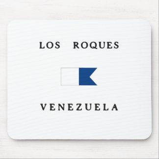 Los Roquesベネズエラのアルファ飛び込みの旗 マウスパッド