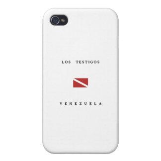 Los Testigosベネズエラのスキューバ飛び込みの旗 iPhone 4/4S カバー