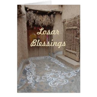 Losarのチベットの新年 カード