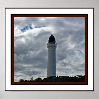 Lossiemouth、スコットランドの灯台 ポスター