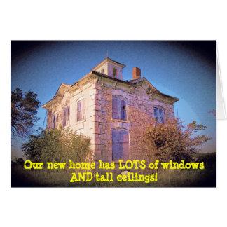 Lotsaの窓及び高い天井のおもしろいな住所変更 カード