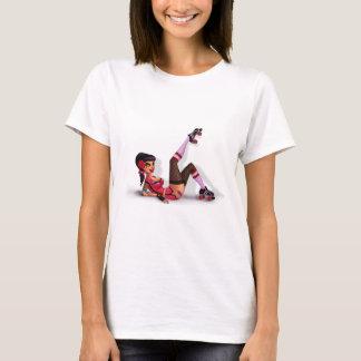 Lotta Payne -ローラーのダービーのピンナップの女の子 Tシャツ