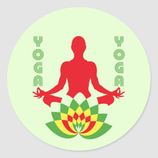 Lotus Flower Yoga ラウンドシール